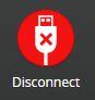 iNav disconnect button