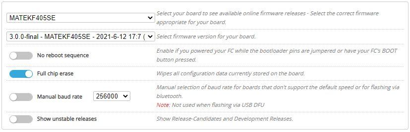 iNav 3.0 firmware flasher